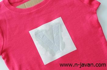 رنگ کردن طرح روی تی شرت